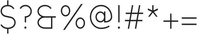 Kunamy Light otf (300) Font OTHER CHARS