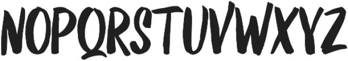 Kurashiki Brush otf (400) Font UPPERCASE