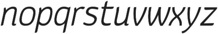Kurstiva Light Italic otf (300) Font LOWERCASE