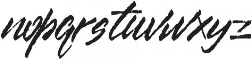 kurut otf (400) Font LOWERCASE