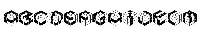 Kubic's Rube Font LOWERCASE