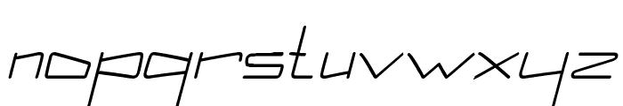 Kuppel Condensed Bold Italic Font LOWERCASE