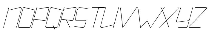 Kuppel Condensed Thin Italic Font UPPERCASE