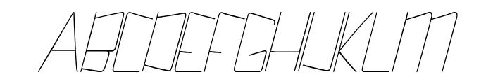 Kuppel Ultra-condensed Thin Italic Font UPPERCASE