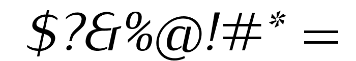 Kurier-Italic Font OTHER CHARS