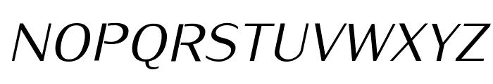 Kurier-Italic Font UPPERCASE