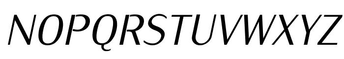 KurierCond-Italic Font UPPERCASE