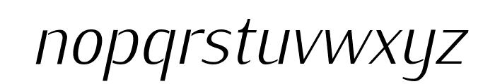 KurierCondLight-Italic Font LOWERCASE