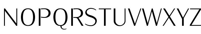 KurierCondLight-Regular Font UPPERCASE