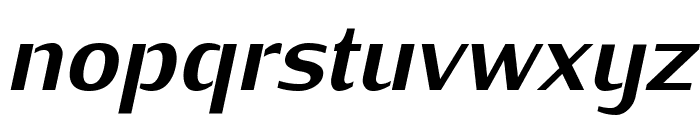 KurierHeavy-Italic Font LOWERCASE