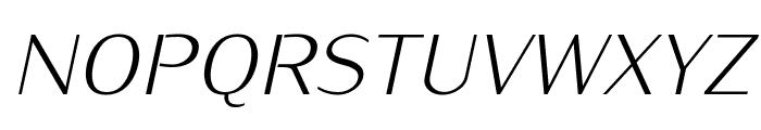 KurierLight-Italic Font UPPERCASE