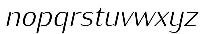 KurierLight-Italic Font LOWERCASE