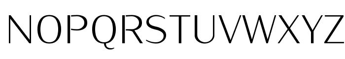 KurierLight-Regular Font UPPERCASE