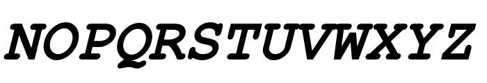 Kuriero Esperanto Dika Kursiva Font UPPERCASE