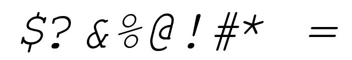 Kuriero Esperanto Kursiva Font OTHER CHARS