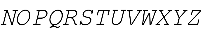 Kuriero Esperanto Kursiva Font UPPERCASE