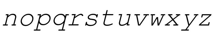 Kuriero Esperanto Kursiva Font LOWERCASE