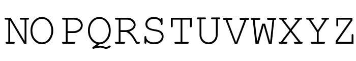 Kuriero Esperanto Normala Font UPPERCASE