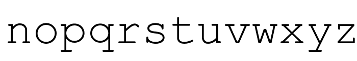 Kuriero Esperanto Normala Font LOWERCASE