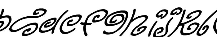 Kurly Kyoots Italic Font UPPERCASE