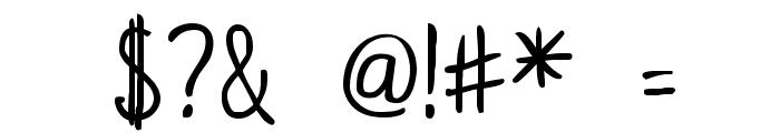 KurzetsType Regular Font OTHER CHARS
