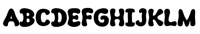 Kush Fat Font UPPERCASE