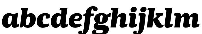 Kunstuff Black Italic Font LOWERCASE
