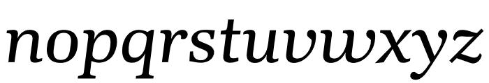 Kunstuff Italic Font LOWERCASE