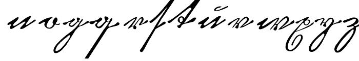 Kurrent Kupferstich Regular Font LOWERCASE