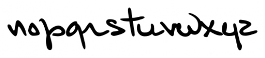 Kuno Handwriting Regular Font LOWERCASE