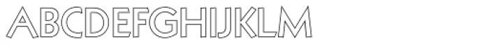 Kufi Outline Regular Font UPPERCASE