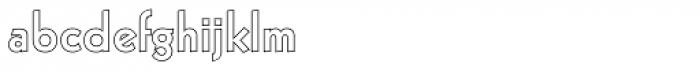 Kufi Outline Regular Font LOWERCASE