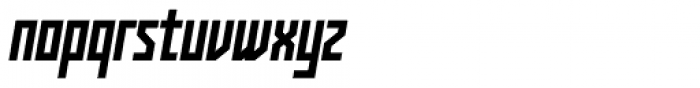 Kufica Bold Italic Font LOWERCASE