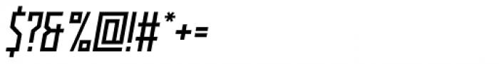 Kufica Regular Italic Font OTHER CHARS