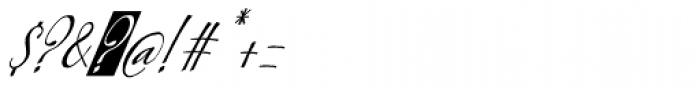 Kumma Condensed Italic Font OTHER CHARS