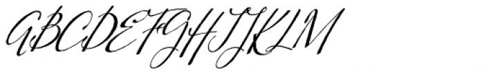Kumma Condensed Italic Font UPPERCASE