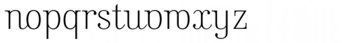 Kursivschrift Stehend Haar Font LOWERCASE