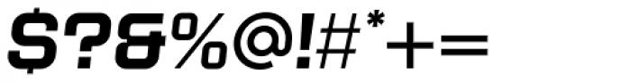 Kursk 105 Medium Oblique Font OTHER CHARS