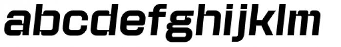 Kursk 105 Medium Oblique Font LOWERCASE