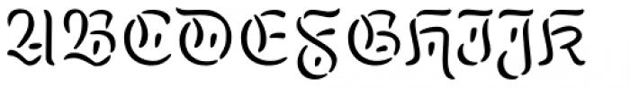 Kuschelfraktur Tradition Regular Font UPPERCASE