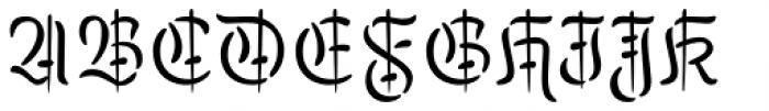 Kuschelfraktur Verziert Regular Font UPPERCASE