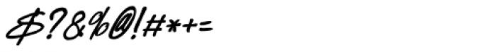 Kusukusu Bold Italic Font OTHER CHARS