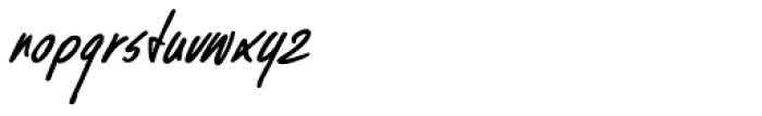 Kusukusu Bold Italic Font LOWERCASE