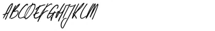 Kusukusu Italic Font UPPERCASE