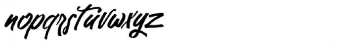 Kutharock Italic Font LOWERCASE
