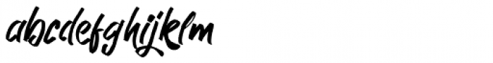 Kutharock Regular Font LOWERCASE