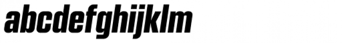 Kuunari Black Condensed Italic Font LOWERCASE