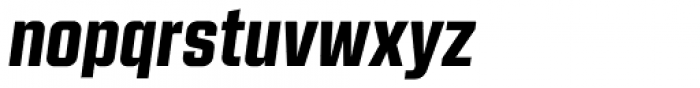 Kuunari Black Italic Font LOWERCASE
