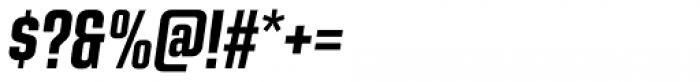 Kuunari Bold Compressed Italic Font OTHER CHARS