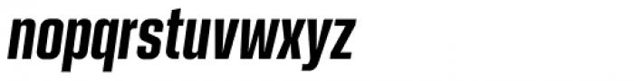 Kuunari Bold Compressed Italic Font LOWERCASE